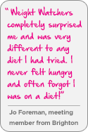 Weight Watchers testimonial