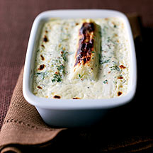 Photo of Leeks with Creamy Cheese Sauce by WW