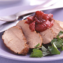 Photo of Pork tenderloin with rhubarb chutney by WW