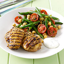 Photo of Grilled chicken thighs with chickpea salad by WW
