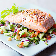 Photo of Seared Salmon with Indian Salad by WW