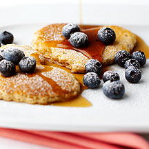 Photo of Pancakes with blueberries and maple syrup by WW