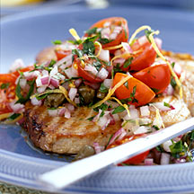 Photo of Grilled tuna with fresh tomato salsa by WW