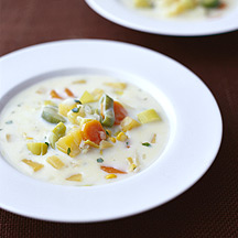 Photo of Creamy harvest vegetable soup by WW
