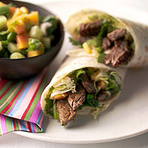 Photo of Sizzled steak and papaya salsa wraps by WW