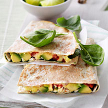 Photo of Chicken, avocado and cheese tortilla by WW