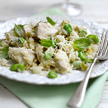 Photo of Chicken & broad bean risotto by WW