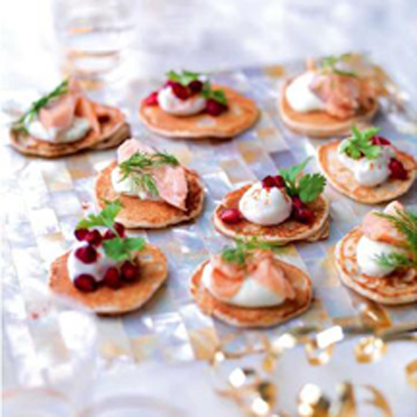 Photo of Blinis with smoked trout and wasabi cream by WW