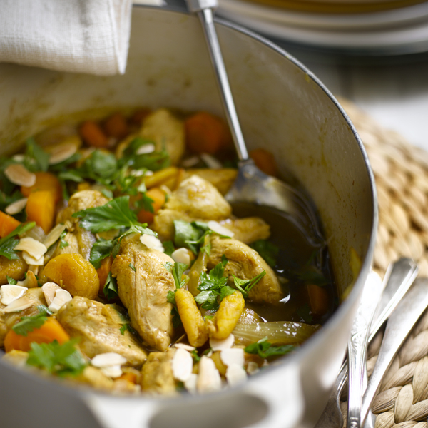 Photo of Chicken tagine with apricots and almonds by WW