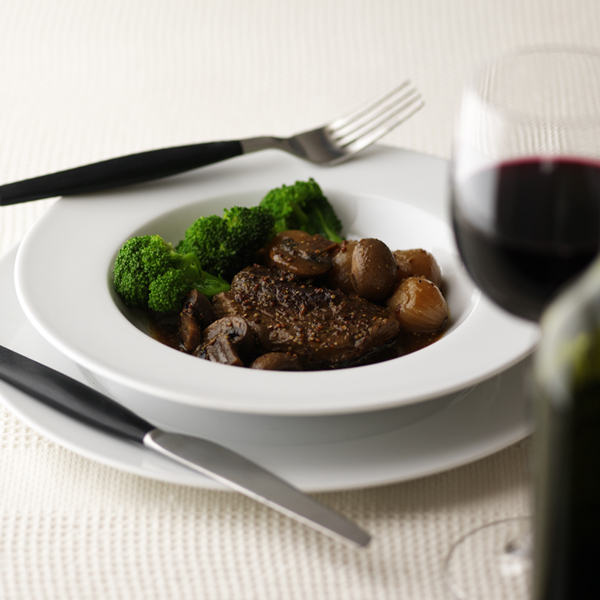 Photo of Braised Steak with Mushrooms and Shallots by WW