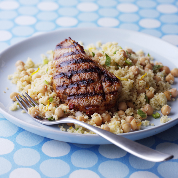 Photo of Harissa Lamb with Orange and Chick Pea Couscous by WW
