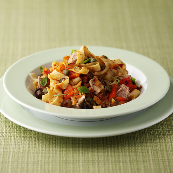 Photo of Ribbon pasta with tuna and tomatoes by WW