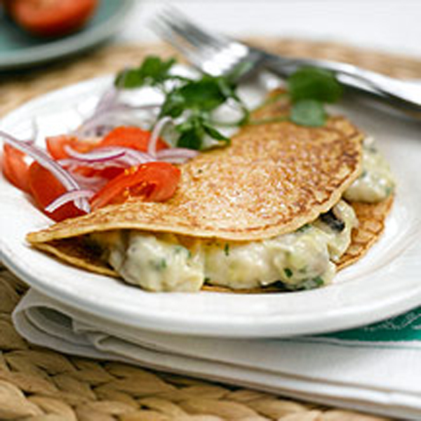 Photo of Leek, mushroom and cheese pancakes by WW