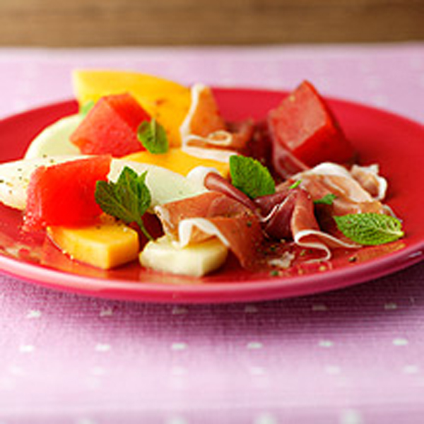 Melon And Parma Ham Salad With Mint Dressing Recipe - m