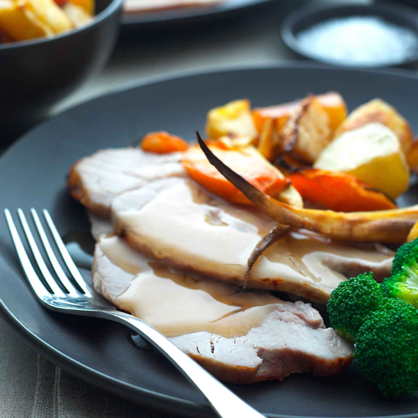 Roast Loin Of Pork With Winter Veg