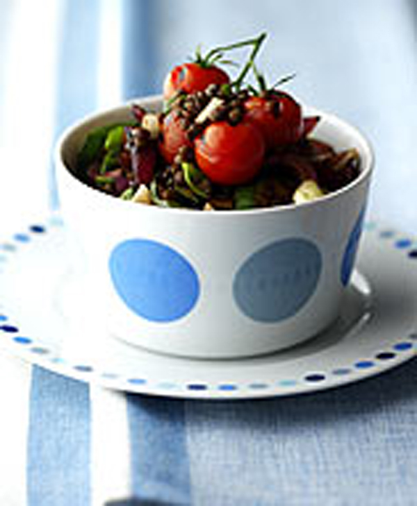 Photo of Puy lentil Salad with grilled tomatoes and courgettes by WW