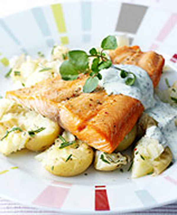Photo of Trout with Rosemary Crushed Potatoes and Watercress Sauce by WW