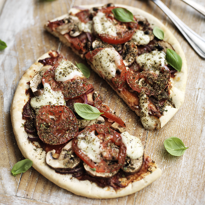 Photo of Pizza with Mushrooms and Mozzarella by WW