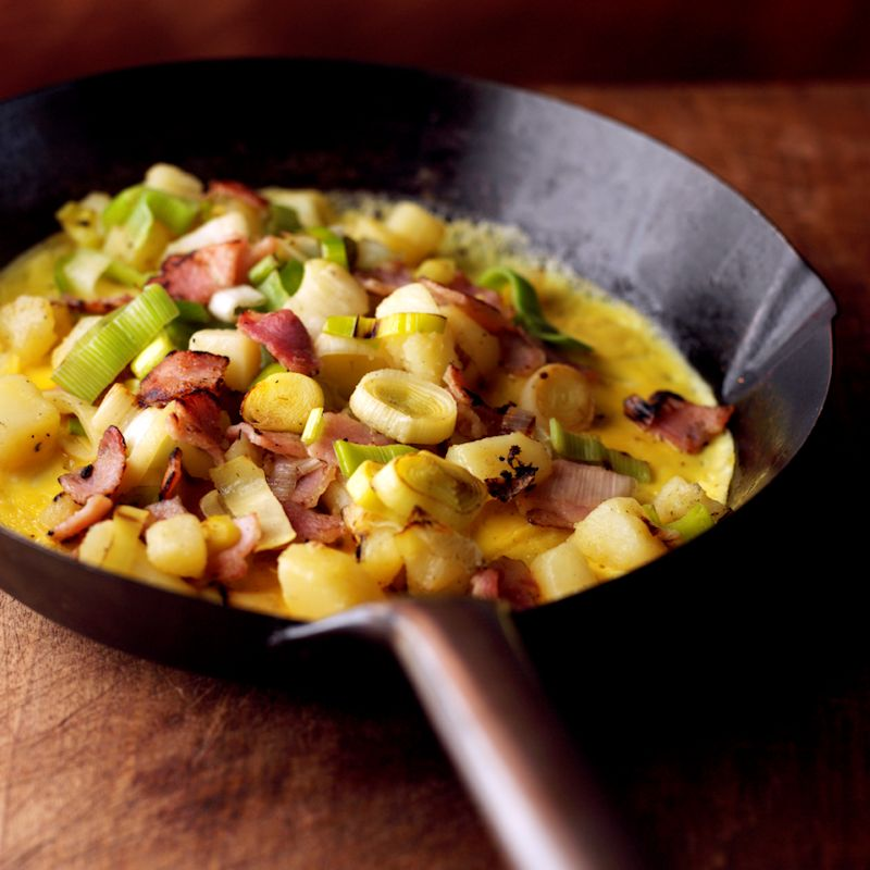 Photo of Bacon, leek & potato omelette by WW