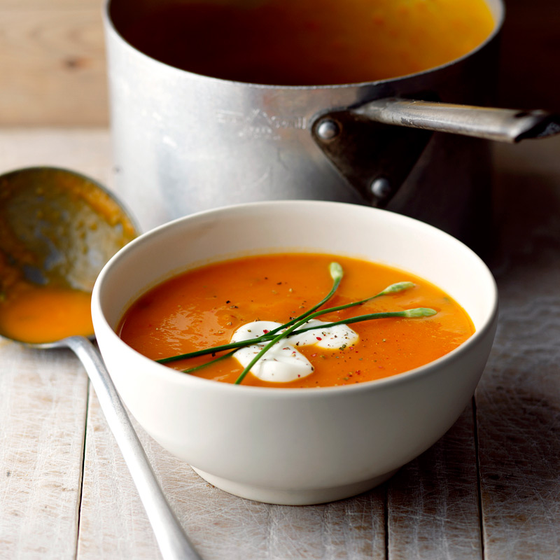 Photo of Butternut squash, red pepper and soft cheese soup by WW