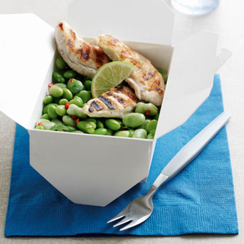 Photo of Broad bean salad with griddled chicken by WW