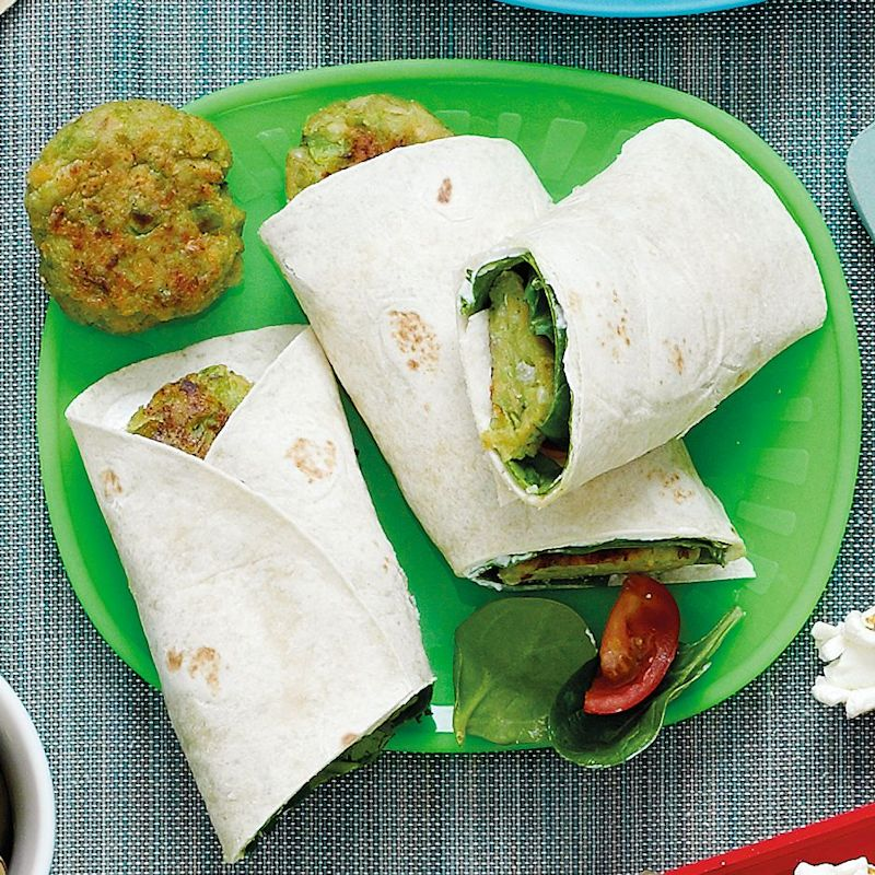 Photo of Broad bean falafel wraps by WW