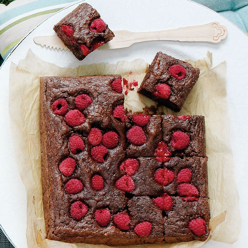 Photo of Raspberry & mint brownies by WW