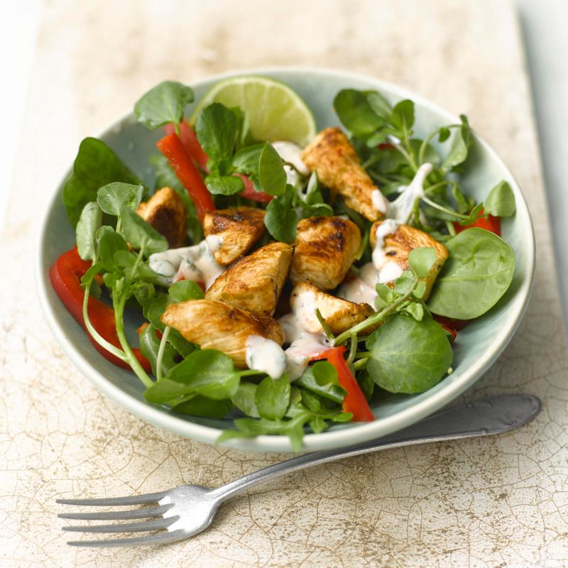 Photo of Chicken, lime & ginger salad with coconut dressing by WW
