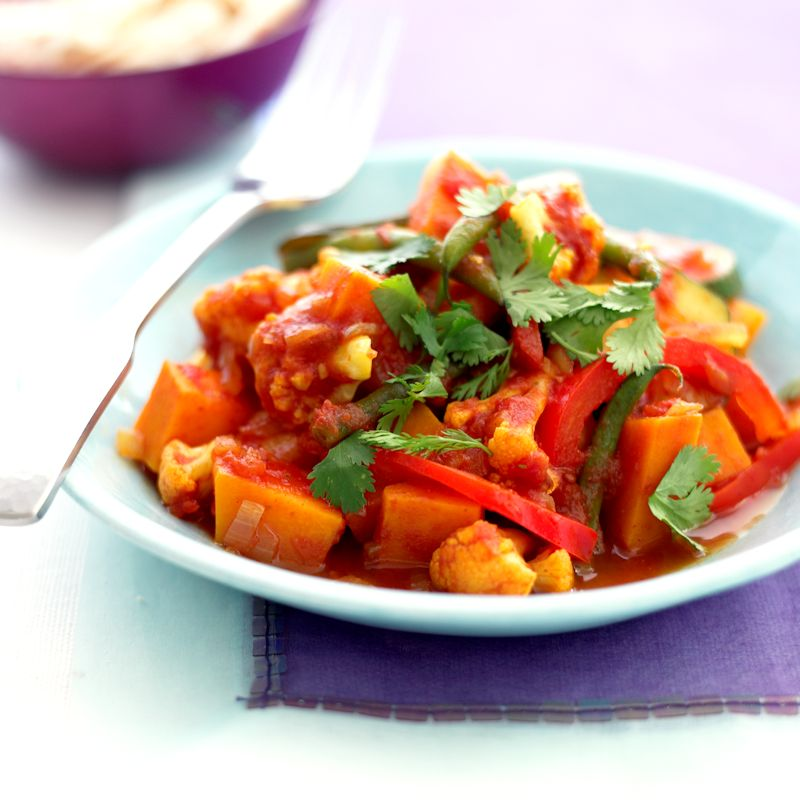 squash cauliflower and courgette curry healthy recipe ww uk