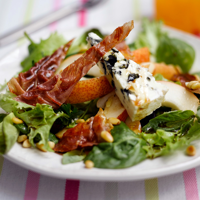Photo of Roquefort cheese, pear & Parma ham salad by WW