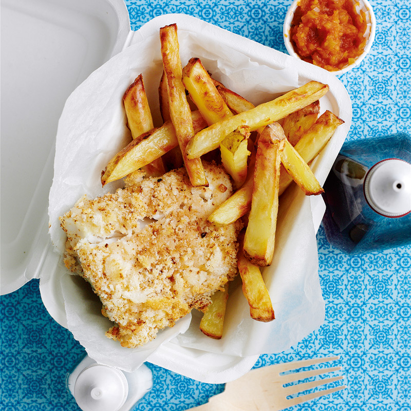 Photo of Cod &  chips with curry sauce by WW