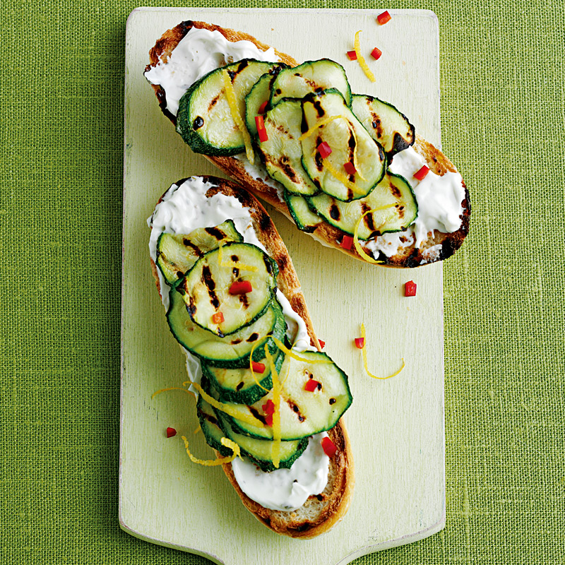 Photo of Courgette & soft cheese bruschetta by WW