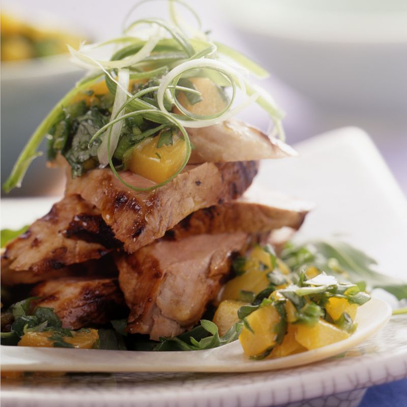 Photo of Grilled pork with nectarine salsa by WW