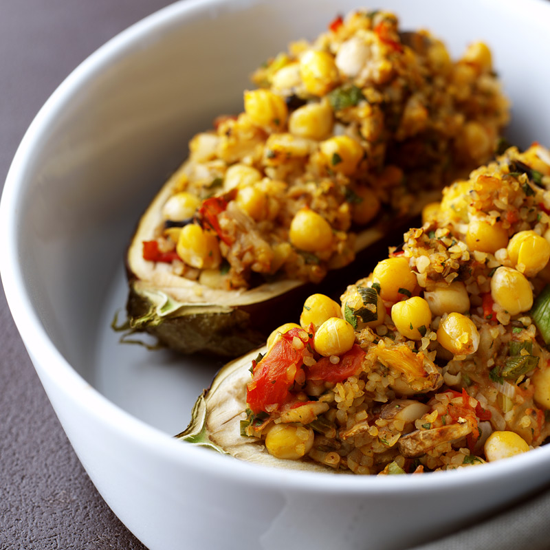 Photo of Moroccan-style stuffed aubergine by WW