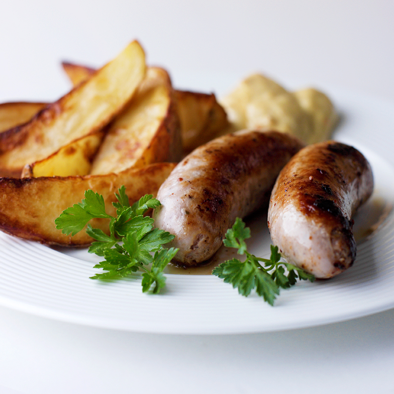Photo of Sausage & chips with curry dip by WW