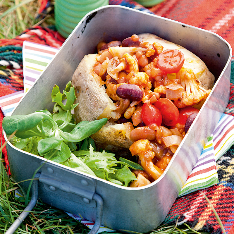 Photo of Fire baked potatoes with spicy beans by WW