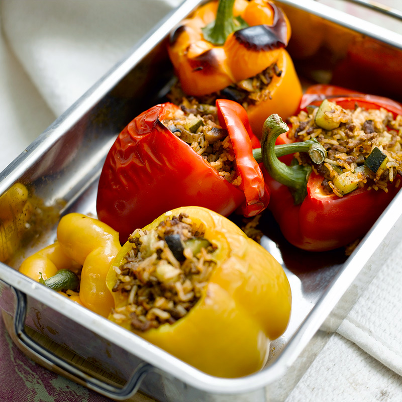 Photo of Stuffed red & yellow peppers by WW