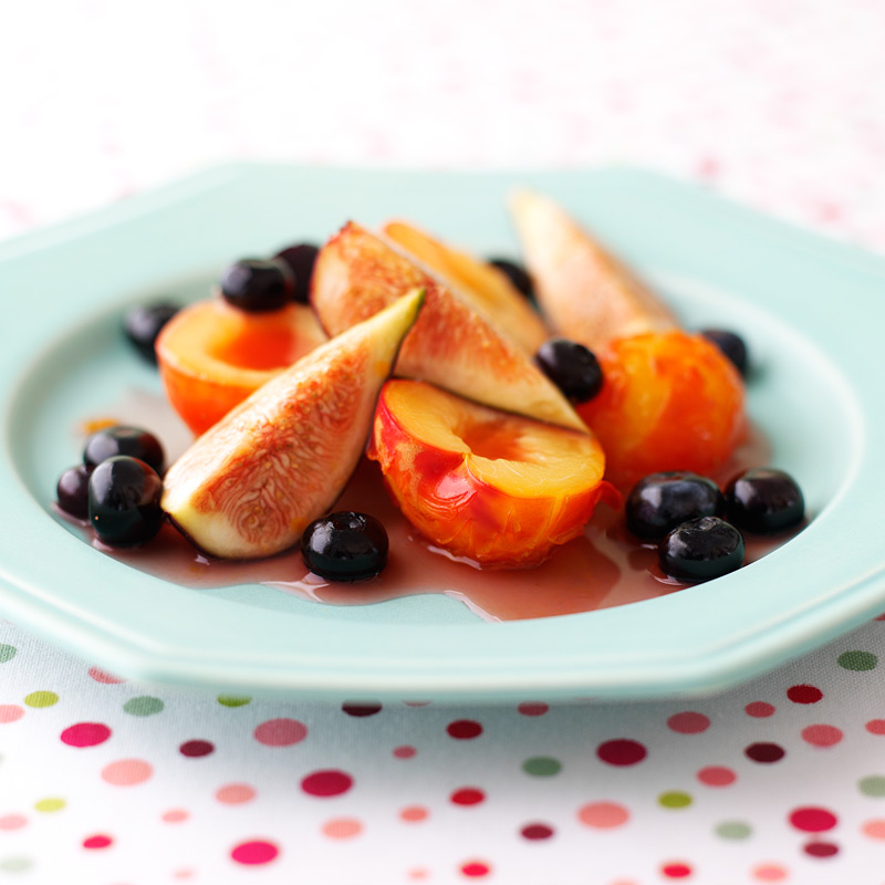 Photo of Fig, Plum and Blueberry Fruit Salad by WW