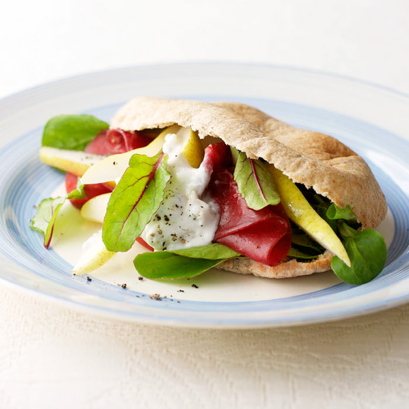Photo of Pittas with pear, gorgonzola & Parma ham by WW