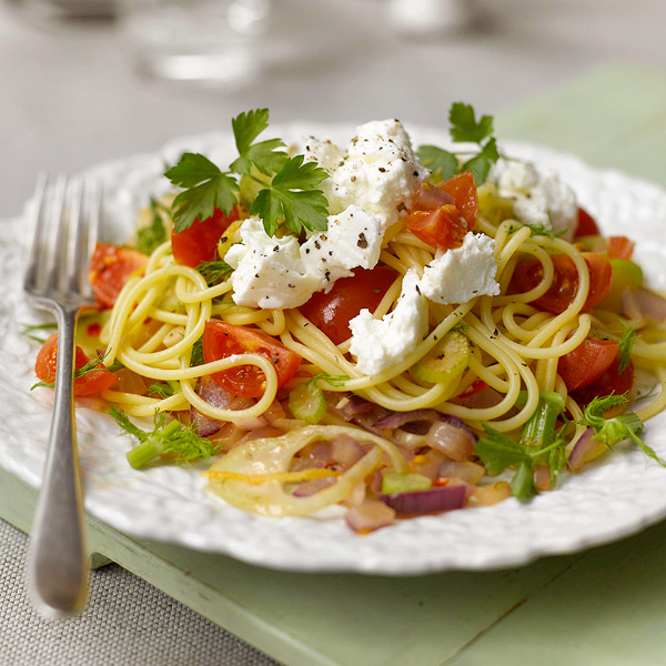 Photo of Spaghetti with fennel, cherry tomatoes and ricotta by WW