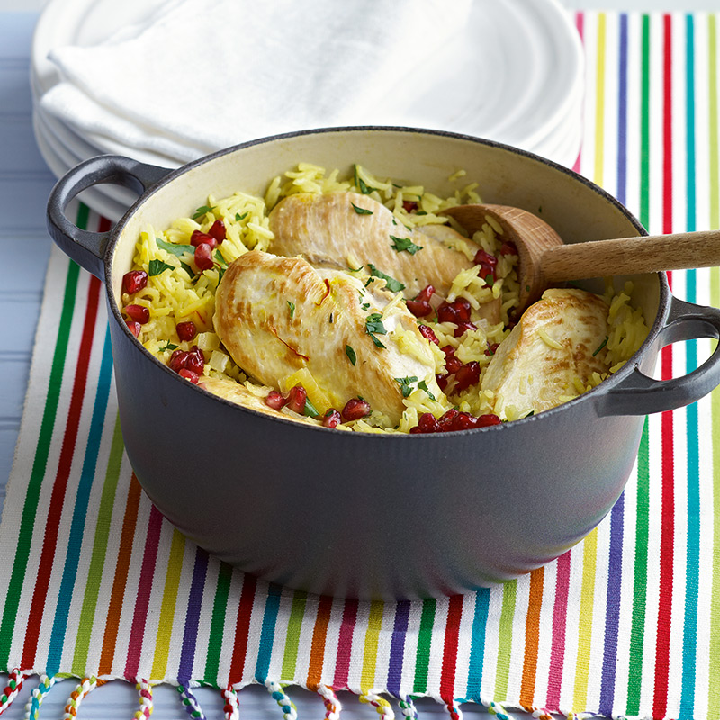 Photo of Baked chicken with saffron rice by WW