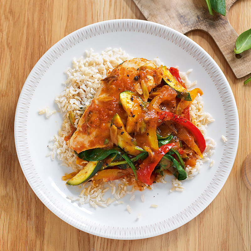 Photo of Quick chicken cacciatore with rice by WW