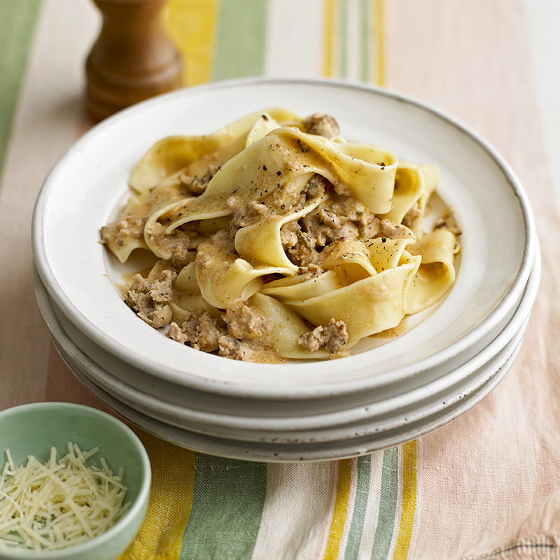 Photo of Sausage, lemon & sage pappardelle by WW