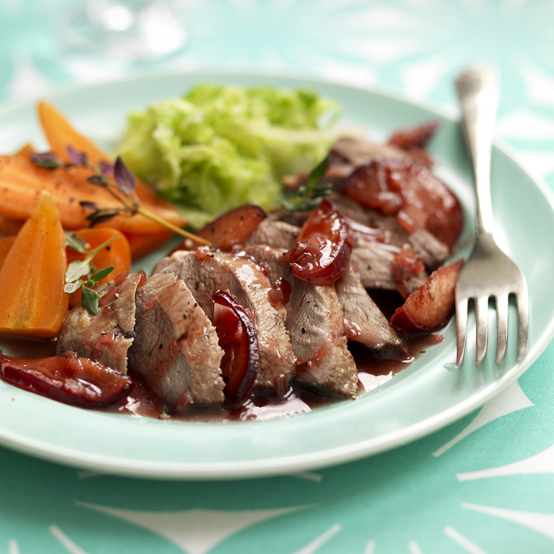 Photo of Duck breasts with plum & red wine sauce by WW