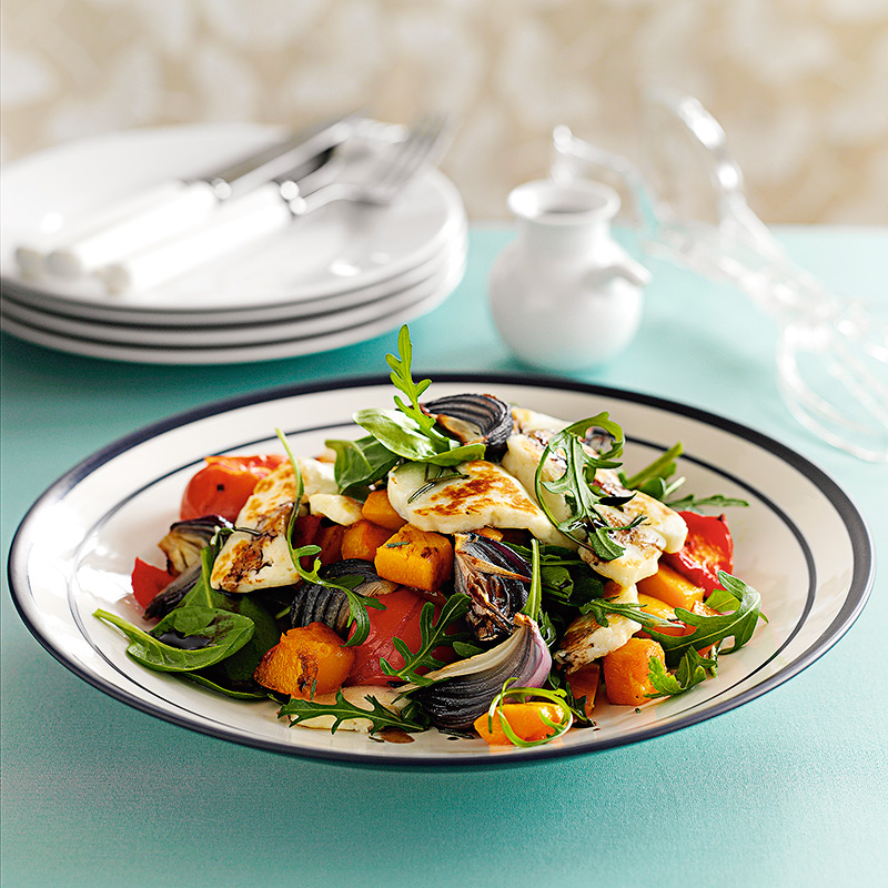 Photo of Warm roasted squash salad with halloumi by WW