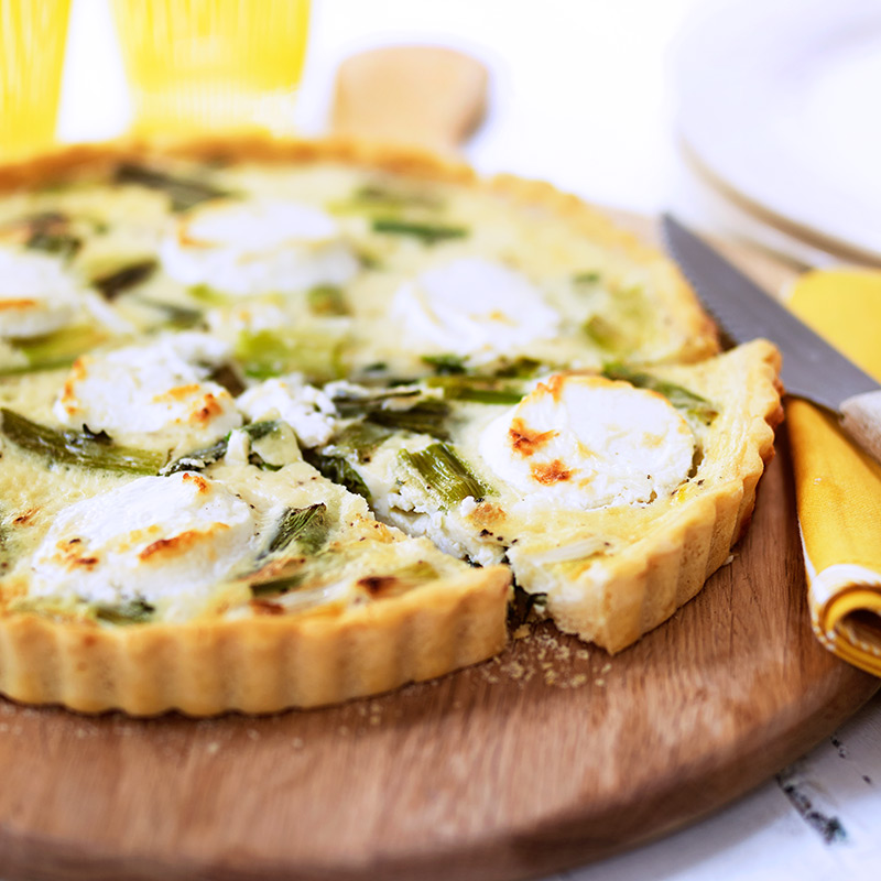 Photo of Goat's cheese & spring onion quiche by WW