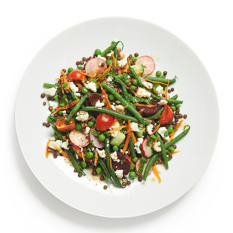 Photo of Summer vegetable & feta lentil salad by WW