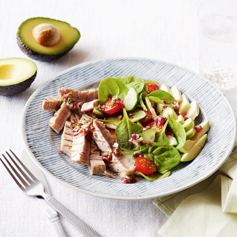 Photo of Tuna, avocado & spinach salad by WW