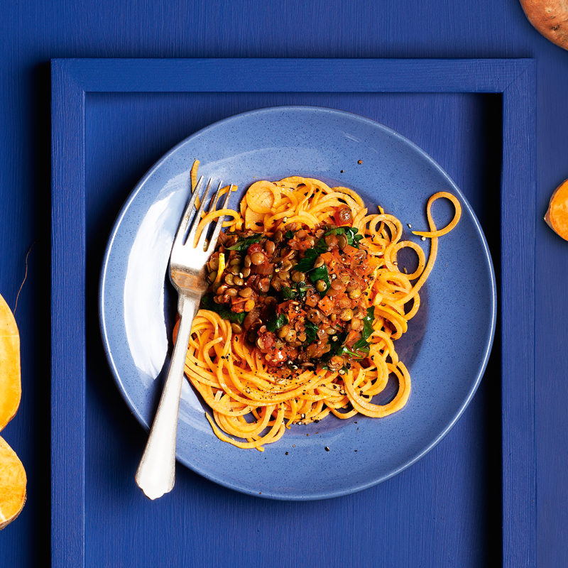 Photo of Lentil Bolognese with sweet potato 'spaghetti' by WW