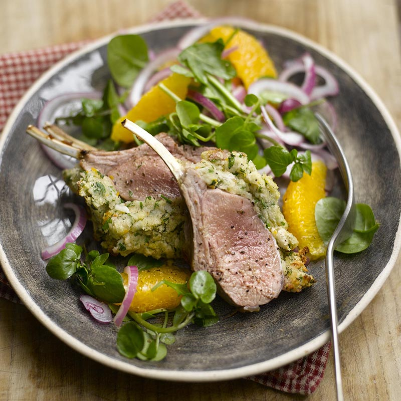 Photo of Crusted racks of lamb with orange, garlic & rosemary by WW
